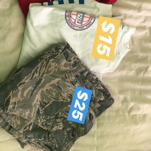 Tops - Camo pants and vans long sleeve t shirt.